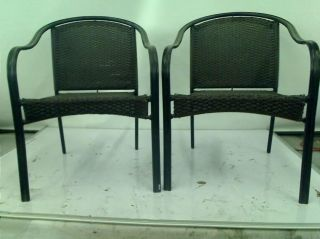 Hampton Bay Wicker Patio Stack Chair 2 Pack