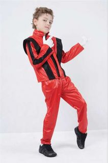 Kids Michael Jackson Thriller Fancy Dress Costume Size Small