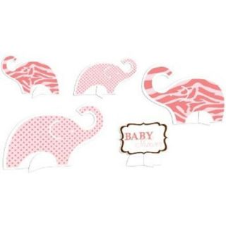 Wild Pink Safari Elephant Table Centerpieces 5 Ct Baby Girl Shower Party Supply