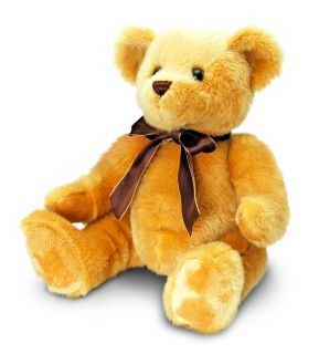 Keel Toys 25cm Brown Wallace Teddy Bear Black Ribbon Soft Plush Cuddly Toy