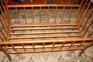 RARE Antique Wooden Baby Bed Crib