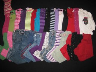 Baby Girl 18 24 Months 2T Used Fall Winter Clothes Lot Shirts Jeans Outfits