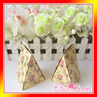 50 Gold Flower Making Cake Wedding Party Supply Professional Gift Favor Box Hot