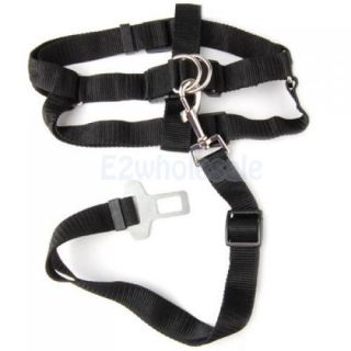"4X Adjustable Pet Dog Puppy Harness with Car Seat Safety Belt Clip 18"" 26"" M"