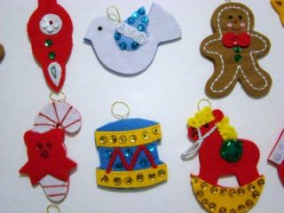24 Bucilla Felt Christmas Advent Calendar Replacement Pieces Ornaments New