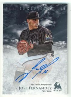 Jose Fernandez 2013 Bowman Inception Prospect Autograph Auto JF RC Rookie