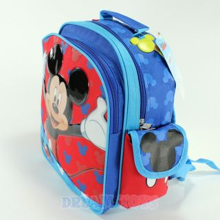 "12"" Disney Mickey Mouse Print Small Toddler Backpack Book Bag Boys School"