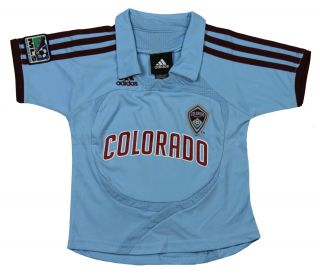 Adidas Colorado Rapids MLS Toddlers Away Replica Jersey Polo Top Shirt Lt Blue