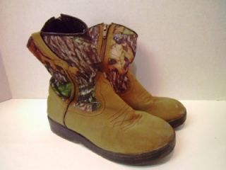 Childrens Mossy Oak Cowboy Boots Western Camo Kids Shoes Boys Camping Glory 13