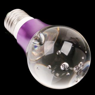 E27 3W 16 Color RGB Crystal Flash LED Purple Light Bulb with Remote Control 90 2