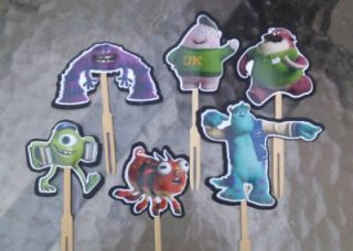 Monsters University Cupcake Cake Toppers Birthday Party Decorations Supplies