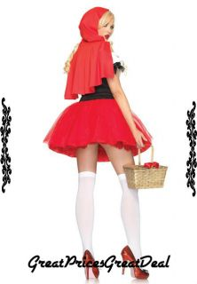 Red Riding Hood Costume 2 Pcs Leg Avenue 83615 Red Sexy Holiday Party Costume