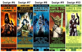 Star Wars Clone Birthday Party Ticket Invitations Supplies and Favors