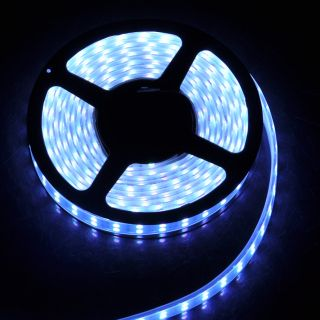 Double Row 5M 5050 SMD 600 LED RGB LED Strip Light Mini IR Remote 10A Power
