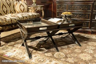 John Richard Collection Butler Double Removable Tray Top Cocktail Table