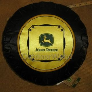 Scene Weaver John Deere Tractor Tire Pillow w Logo New