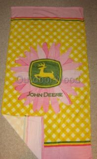 John Deere Pink Daisy Beach Towel New