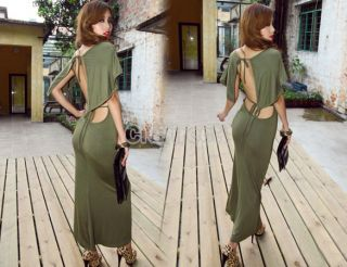 N4U8 Sexy Long Cocktail Summer Evening Party Backless Beach Maxi Dress Women