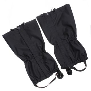 Outdoor Hiking Walking Climbing Hunting Snow Waterproof Gaiters Nylon Black