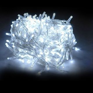 New White 30M 110V 300 LED Christmas Tree Wedding Fairy Colorful String Lights