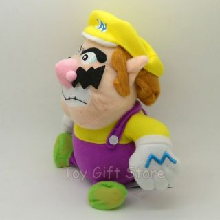 New Super Mario Bros Wario Plush Doll Stuffed Toy 8""