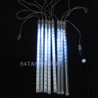 Waterproof 30cm 8 LED Meteor LED String Light Christmas Xmas Party Garden White