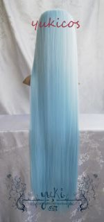 Angel Beats Tenshi Kanade Tachibana Cosplay Wig Blue Party Cotume Hair Coser