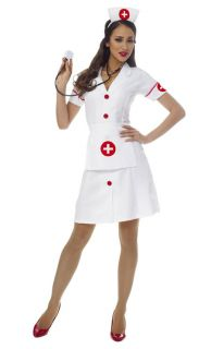 Sexy Classic Nurse Halloween Costume Dress Adult Woman 48356