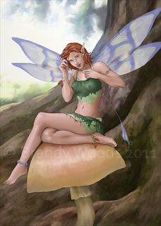 Fairy Magical Fantasy Pin Up Art ACEO Elf Brandy Woods