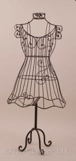 "Wrought Iron Metal 35"" Tall Dress Form Mannequin 91813"