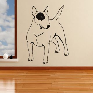 Bull Terrier Eye Patch Dogs Animals Wall Stickers Wall Art Decal Transfers