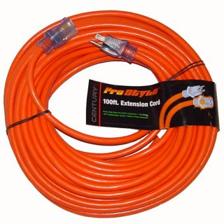 100 ft Heavy Duty Electric Extension Power Cord 12 Gauge Electrical Cable Orange