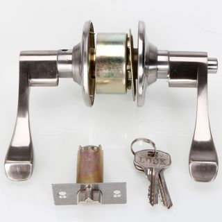 New Stainless Steel Door Lock Pull Handles Level Entry Exterior Locks