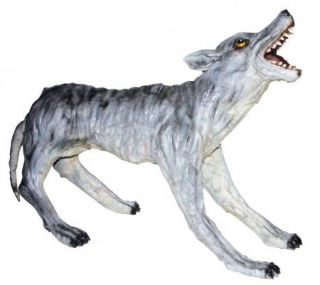 Realistic Howling Latex Wolf Outdoor Yard Halloween Prop Decoration New