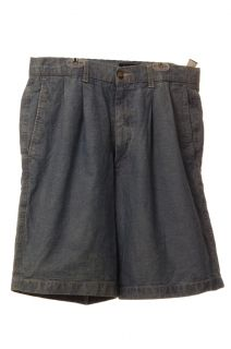 Dockers Mens Denim Blue Jean Casual Relaxed Fit Shorts Pleated Size 32 34 New
