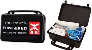 M48 Kommando Military First Aid Kit with 56 Items Included