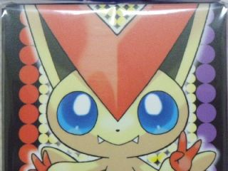 Pokemon Center Trading Card Deck Box Case Victini