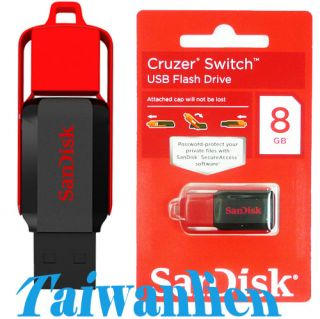 SanDisk Cruzer Switch 8GB 8g USB2 0 Flash Pen Drive Memory Stick Key Thumb Drive 619659067410