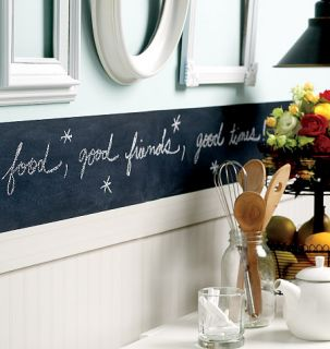 Chalkboarder Chalk Board and Wall Border Peel Stick Removable Walls Chalkboard