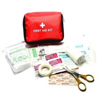 First Aid Kit Necessity Red Emergency Tools Family Medical Kit Accident Bandage