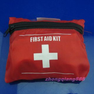 2pcs Emergency First Aid Bag Pack Travel Sport Survival Red First Aid Kit