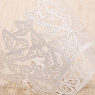 12 x Butterfly Cupcake Wrapper Wrap Case Wedding Cake Decoration