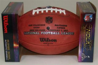 Super Bowl 47 XLVII Wilson Leather Official NFL Game Football