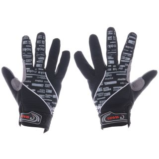 Cycling Bicycle Motorcycle Racing Sport Full Finger Glove Size M L XL Two Colors