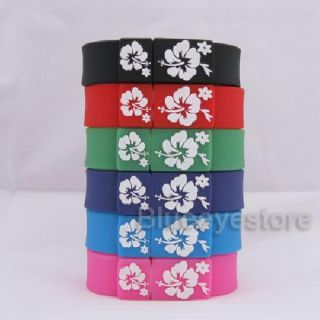 Fashion Purple Flower Wrist Band Bracelet 2GB USB 2 0 Flash Memory Pen Drive