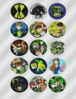 N522 Edible Icing Image Birthday Cake Cookie Cupcake Topper Ben 10 Ten Aliens