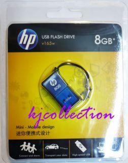 HP 8GB 8g USB Mini Flash Pen Drive Memory Stick V165W