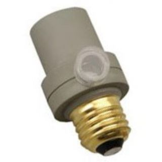 New Woods 59405 Indoor Outdoor Light Sensor Socket Screw in Automatic Switch