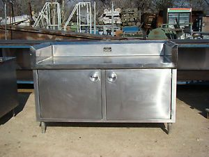 Stainless Steel Food Prep Work Table Counter Cabinet w Back Splash