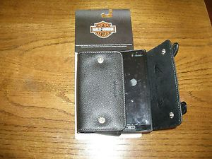 Harley Davidson Leather Saddle Bag Case for Phones Cameras Cigarettes Olympus